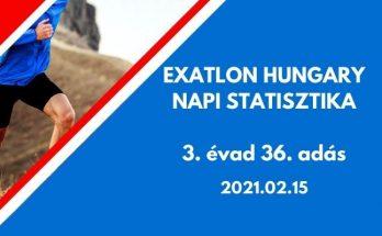 exatlon hungary napi statisztika, 3. évad 36. adás, 2021.02.15