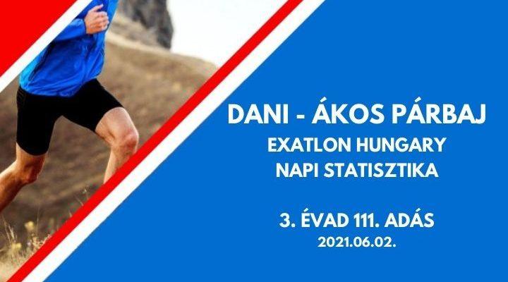 Dani Ákos párbaj statisztika, 3. évad 111. adás